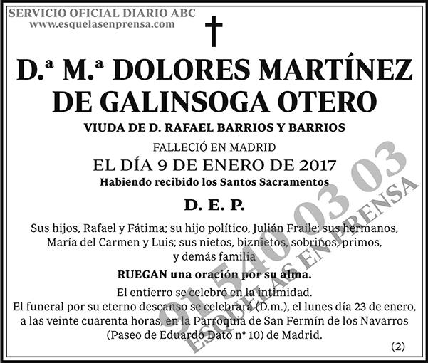 M.ª Dolores Martínez de Galinsoga Otero